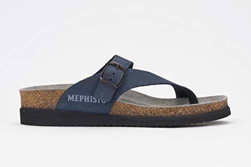 Mephisto Nubuck Sandals - Mephisto Women's Helen Thong Sandal,Navy Nubuck,8 M US