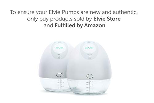 31L3 kkdP8L - Elvie Pump Double Silent Wearable Breast Pump With App - Electric Hands-Free Portable Breast That Can Be Worn In-Bra