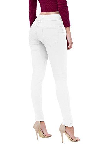 Women's Butt Lift V2 Super Comfy Stretch Denim Jeans P43636SK White 11