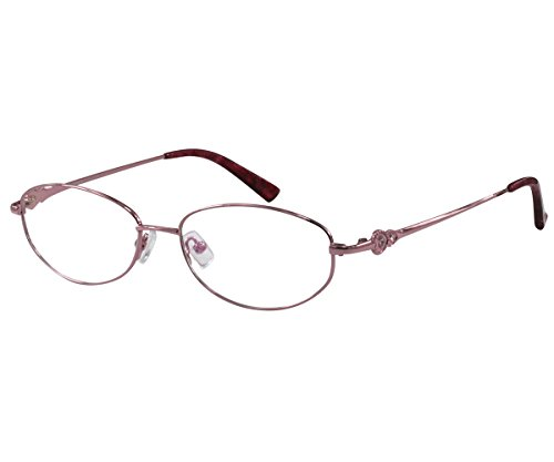 EyeBuyExpress Women Reader Cheaters Stainless Steel Full Rim Anti Reflective Pink 3