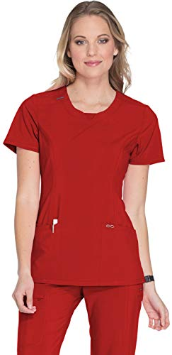 Cherokee Infinity 2624A Round Neck Top Red XL