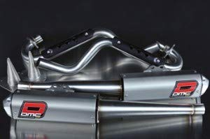 Yamaha Raptor 700 DMC Force 4 dual exhaust (Best Dual Exhaust For Raptor 700)