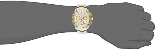 Amazon.com  Versace Men s VQC030015 DYLOS CHRONO Analog Display Swiss  Quartz Two Tone Watch  Watches 60730b5e796