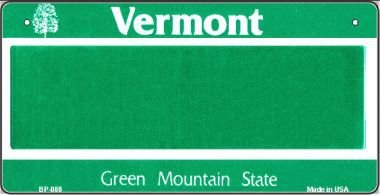 Vermont Novelty State Background Bicycle License Plate BP-088 by Smart Blonde