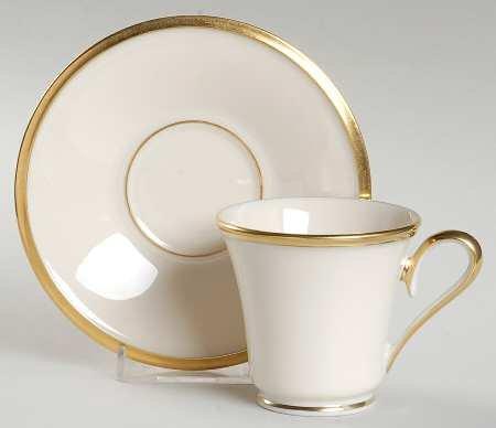 Lenox Eternal Footed Demitasse Cup & Saucer Set, Fine China Dinnerware