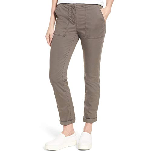 Eileen Fisher Womens Slim Organic Cotton Blend Pants Rye 6 ()