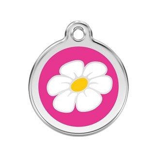 RedDingo enamel pet id tag, medium, ''Daisy'', Hot Pink by K9 Palace