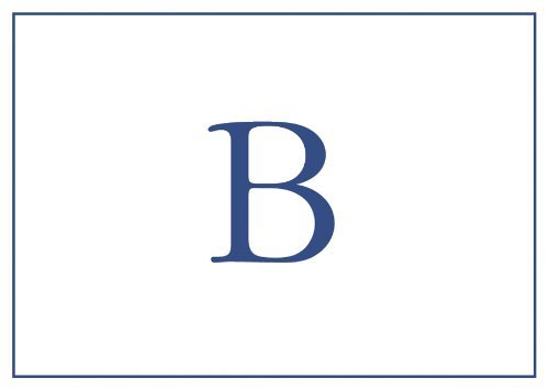 Thank You Notes Personalized Stationery Note Cards Monogrammed Your Initial Pack of 32 Blue Letter B (Initial Note Card Set)