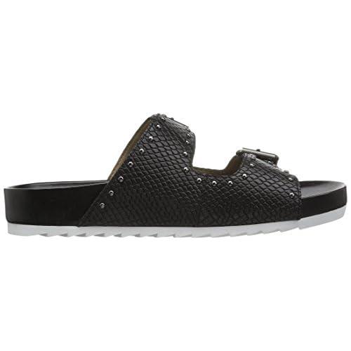 534e6595e365 The Fix Women s Upson Double Buckle Studded Footbed Platform Slide Sandal  70%OFF