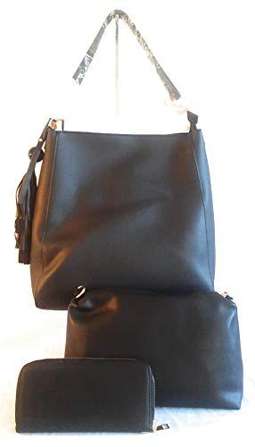 w Set Business Leather Gold Black Piece Trim 3 wnIx1