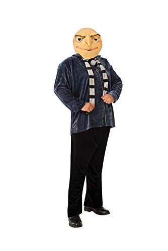 Despicable Me 2 Costumes For Adults (Rubie's Costume Men's Despicable Me 2 Size Gru Costume, Multi-Colored, Plus)