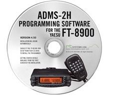 Yaesu ADMS-2H Programming Software on CD with USB Computer Interface Cable for FT-8900R by RT Systems by RT Systems