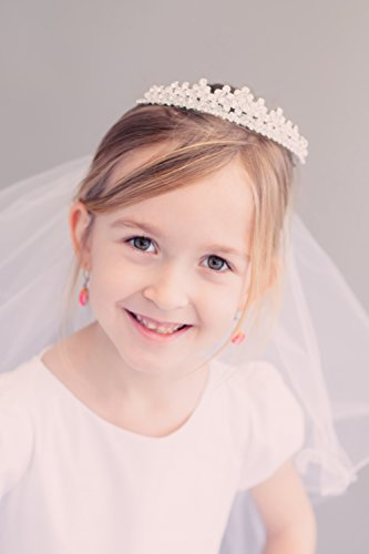 Kids Dream Precious First Communion Flower Girl Veil w/Elegant Princess Crown for Girls by Kid's Dream (Image #3)