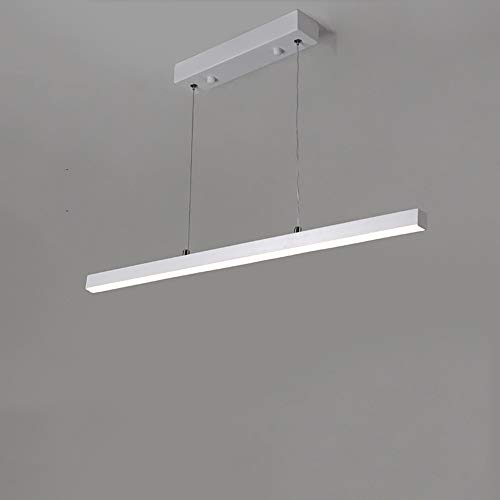 Mogicry 16/20/24W Simple Modern Strip led Dimmable Adjustable Restaurant Droplight Commercial Household Telescopic Rope Illumination Pendant lamp Aluminum Acrylic Variable Light Chandelier ()