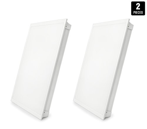 - LED Troffer 2x2 FT Hyperikon, 35W (72W Equivalent), 4000K, 3770 Lumens, 24 x 24, Dimmable 0-10v, 100-277v, White Frame, DLC-Qualified and Lighting Facts (Eligible for Rebate Programs) - Pack of 2