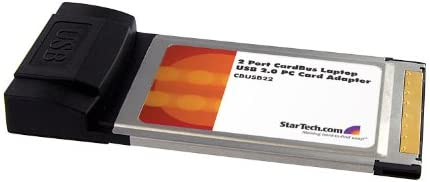 StarTech.com 2 Port CardBus Laptop USB 2.0 PC Card Adapter