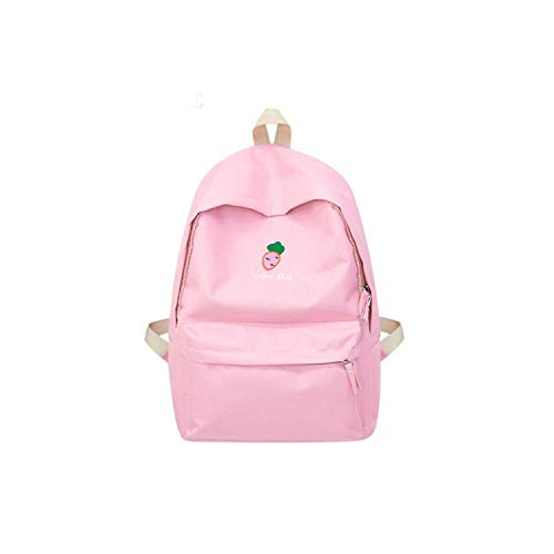 Women Backpack For School Teenagers Girl Vintage Stylish Canvas Fabric Backpack Female Bookbag,Pink B