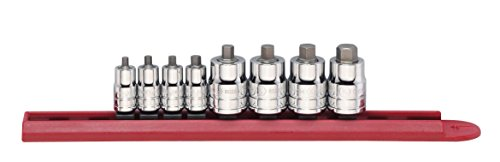 """GEARWRENCH 80291 1//4/"""" AND 3//8/"""" DRIVE 8 PIECE SAE STUBBY HEX BIT SOCKET SET"""