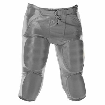 Alleson Adult Solid Dazzle Integrated Football Pants - Charcoal - (Alleson Football Pants)
