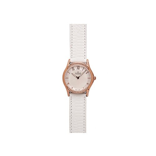 Charmex Cannes 6325 30mm Stainless Steel Case White Calfskin Synthetic Sapphire Women's Watch