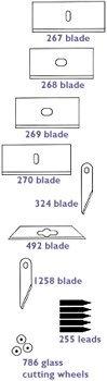Logan Graphic L786 Glass Mat Cutter Wheels - 3 Pack