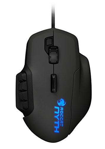 ROCCAT Nyth Modular MMO Gaming Mouse, 12000 DPI Adjustable with Extra Programmable Buttons, Wired USB – PC, Black