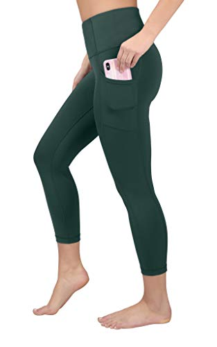 90 Degree By Reflex Yoga Capris - Yoga Capris for Women - Hidden Pocket-Sage-L