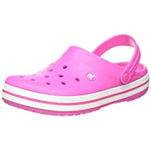 Crocs Crocband, Zuecos Unisex Adulto, Rosa (Electric Pink/White 6qr), 41/42 EU