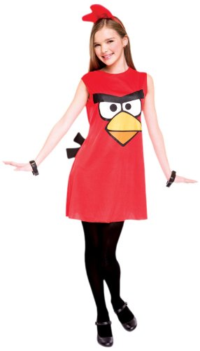 Paper Magic Angry Birds Child Dress Costume, Red, (Angry Birds Red Bird Dress Costume)