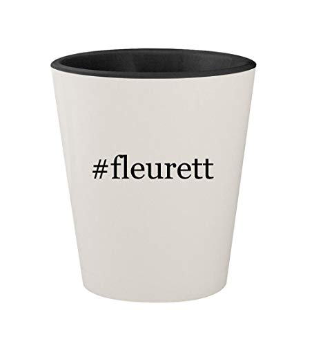 #fleurett - Ceramic Hashtag White Outer & Black Inner 1.5oz Shot Glass