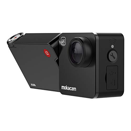 AEE MOKACAM Native 4K Action Camera, Control Via APP& Remote, EIS Stalization Adjust View Angle, Support Underwater 40m Waterproof Video Camera,Outdoor Camera with 1/4 Adapter Mount