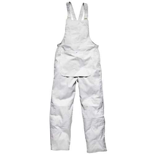 Dickies Men's Painters Brace Overalls White L (Dickies Overalls Womens)