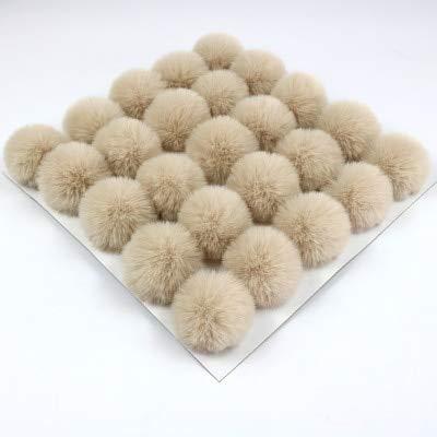 DalaB 50pcs/lot 6CM Faux Rabbit Fur Pompoms Fur Balls for hat Cap Winter Fur pom poms - (Color: 7) ()