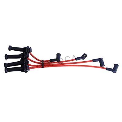 NOPOCA Replaces # WR-5974 Spark Plug Wires Set fit 1999-2006 Ford Focus Mazda Mercury: Automotive