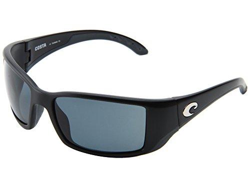 Costa Del Mar Blackfin Polarized Sunglasses, Black, Gray 580Plastic