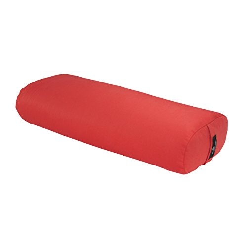 Hugger Mugger Standard Yoga Bolster (Poppy) | Rectangular Restorative Pillow | Very Firm | Handmade in the USA