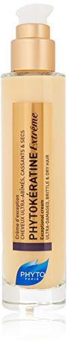 PHYTOKÉRATINE EXTRÊME Botanical Exceptional Cream | Ultra-Weak, Damaged, Brittle, Dry Hair | Thermal Protection, Provides Shine, Anti-Breakage, Anti-Frizz | Baobab Oil | Sulfate Free, Paraben Free
