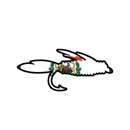 ION Graphics West Virginia Fly Fishing Sticker Vinyl Decal WV Fish Lure Tackle Flies 5