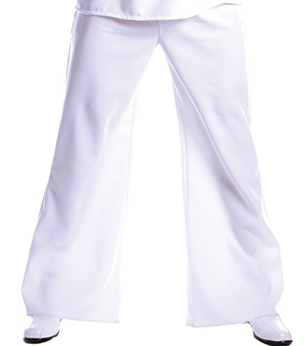 Mens White Disco Pants (Underwraps Costumes Men's Bell Bottom Pants, White, One)
