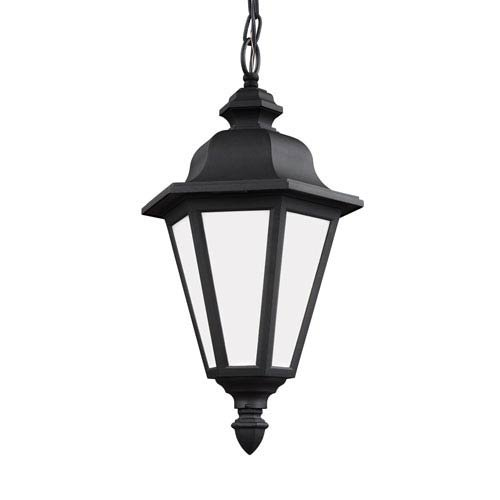 Sea Gull 69025-12 Brentwood Outdoor Pendant, 1-Light 100 Watts, Black by Sea Gull Lighting