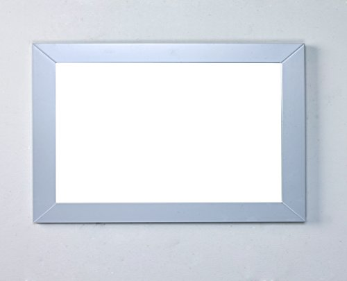 Eviva EVMR514-48X30-GR New York Bathroom Vanity Mirror Full Frame Grey 48X31 Wall Mount