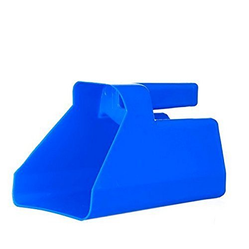 Tolco Heavy-Duty Plastic Scoop, 3 Quart, Blue, 12 Pack