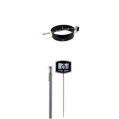 Weber 2290 22-1/2-Inch Charcoal Kettle Rotisserie and Thermometer Bundle