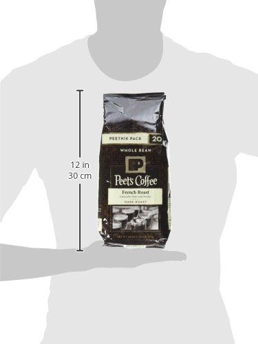 Peet's Coffee, Peetnik Pack, French Roast, Dark Roast, Whole Bean Coffee, 20 oz. Bag, Bold, Intense, & Complex Dark Roast Blend of Latin American Coffees, with A Smoky Flavor & Pleasant Bite by Peet's Coffee (Image #4)