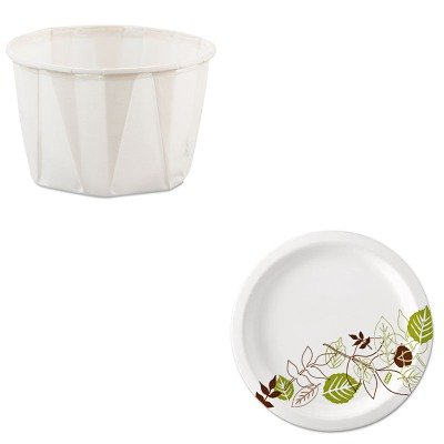 KITDXEUX9WSSLO200 - Value Kit - Dixie Pathways Paper Plates (DXEUX9WS) and Solo Paper Portion Cups (SLO200)