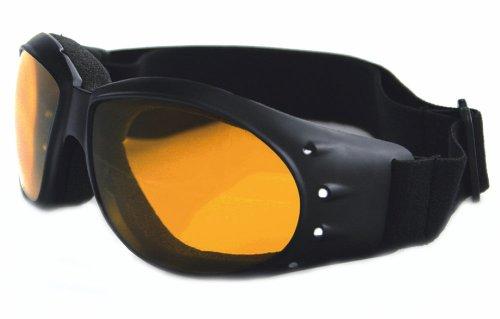 Bobster Cruiser Goggles, Black Frame, Anti-Fog Amber Lens BCA001A