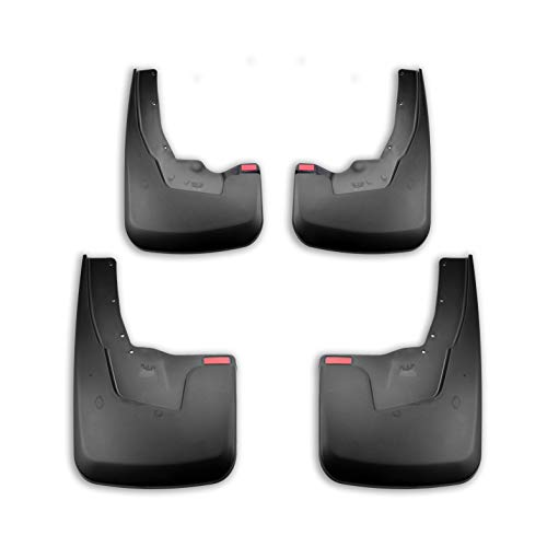 - Tecoom Mud Flaps Splash Guards Front and Rear Black Set of 4 for 2019 Ram 1500 with OEM Fender Flares ABS Molded