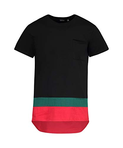 07437cbce6 Saints and Soldiers Gucci Inspired Mens tee Shirt, with Striped Hem Detail,  Made in