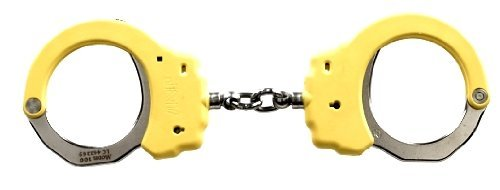 ASP Yellow Identifier Chain Handcuffs (Steel) [並行輸入品] B077QQR1N5