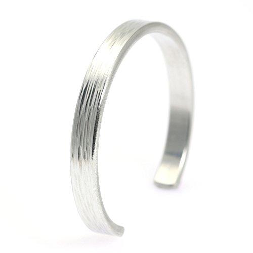 7mm-thin-bark-aluminum-silver-tone-cuff-bracelet-by-john-s-brana-handmade-jewelry-hypoallergenic-lig